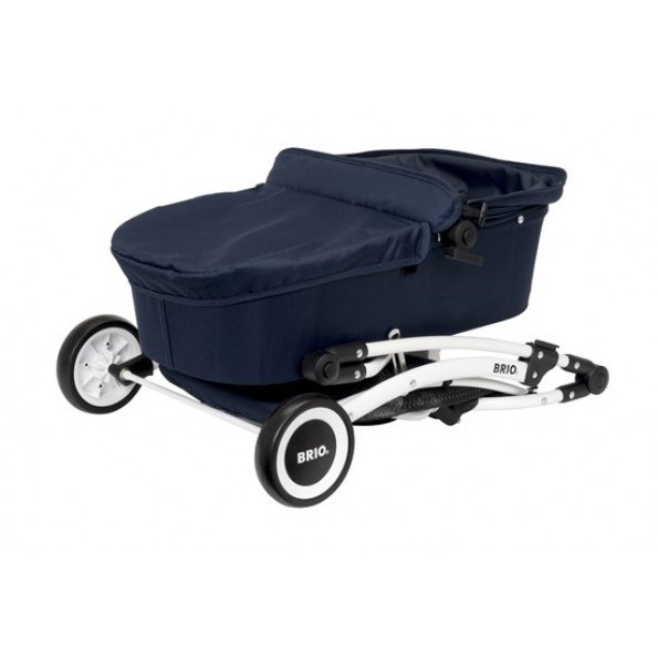 BRIO Spin dukkevogn m/drejehjul, blå - 24901000