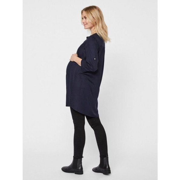 Mamalicious vævet tunika til gravide – navy