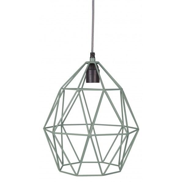 KidsDepot Wire Pendel Lampe - Søgrøn (Ø27cm)