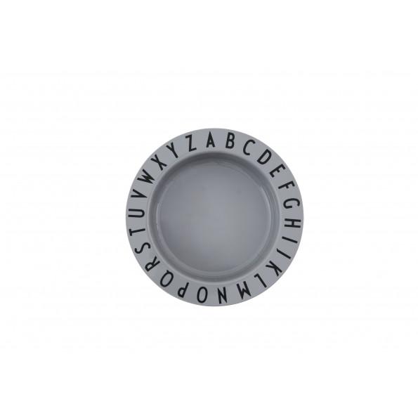 Design Letters ABC dyb tallerken - grå