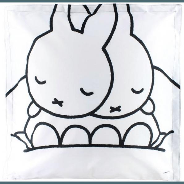 Miffy Dreambag sækkestol 100x100 cm - Hvid/Sort