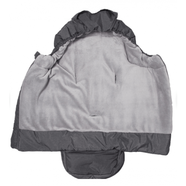 Baby Dan large kørepose - grå