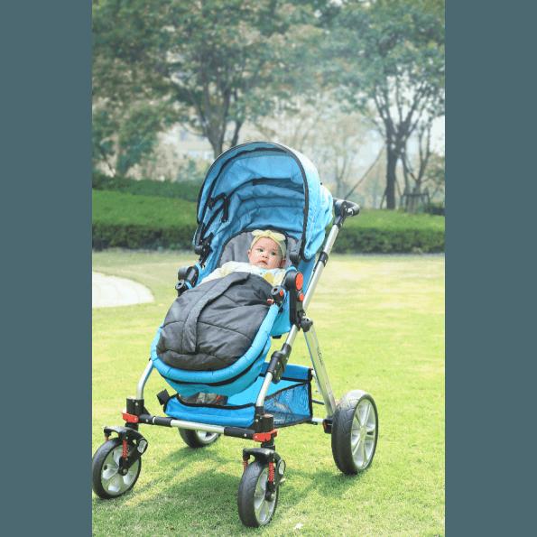 Baby Dan small kørepose - grå