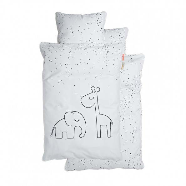 Done by Deer junior sengetøj - Dreamy dots - hvid - 100x140 cm.