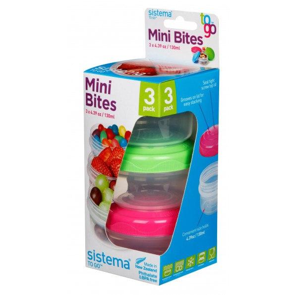 Sistema Mini Bites To Go bøtter 3 stk.