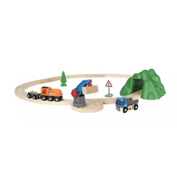 BRIO World - Togbane - Løft- og Læs Startsæt - 33878