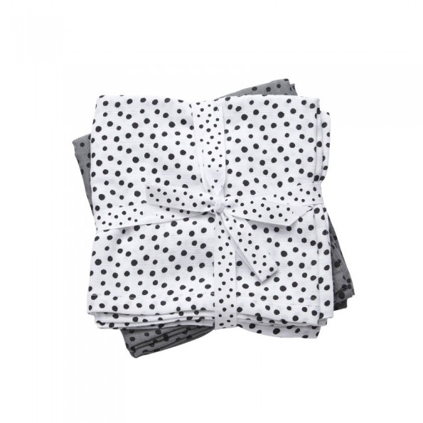 Done By Deer - Happy Dots Stofble 2-pack - Grey