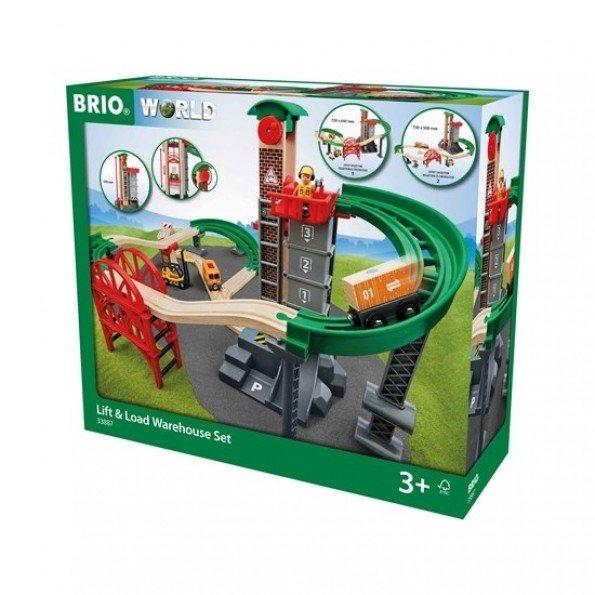BRIO Togbane m Lagerbygning - 33887