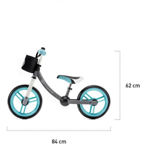 Kinderkraft 2WAY Next balancecykel - turkis