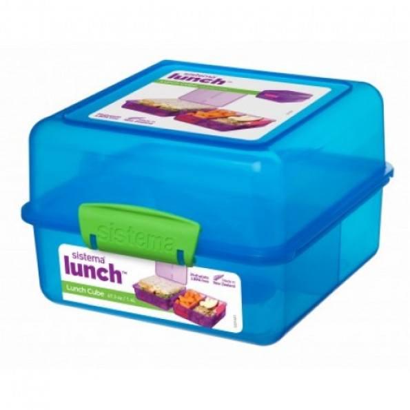 Sistema Lunch Cube madkasse - Blå