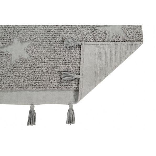 Lorena Canals Hyppy stars tæppe 120x175 cm. - grå