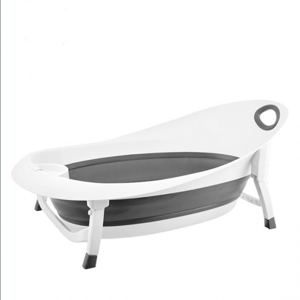 Mininor foldebadekar - hvid