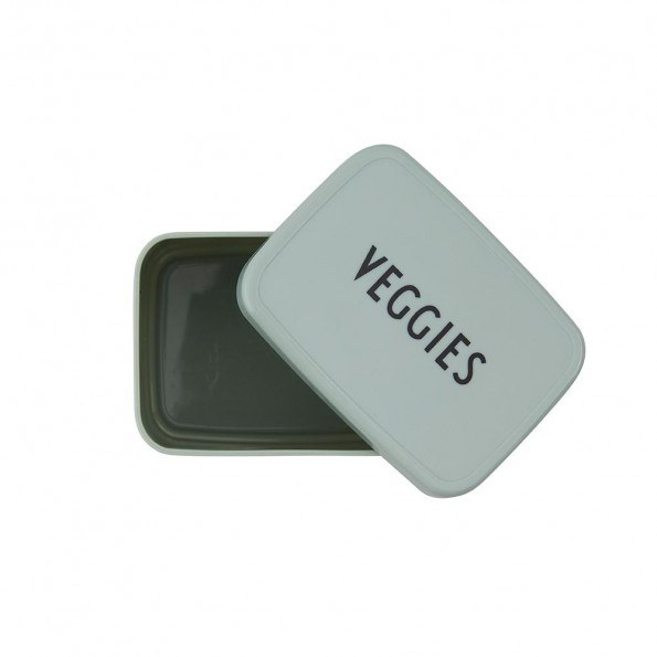Design Letters Snack box VEGGIES - grøn