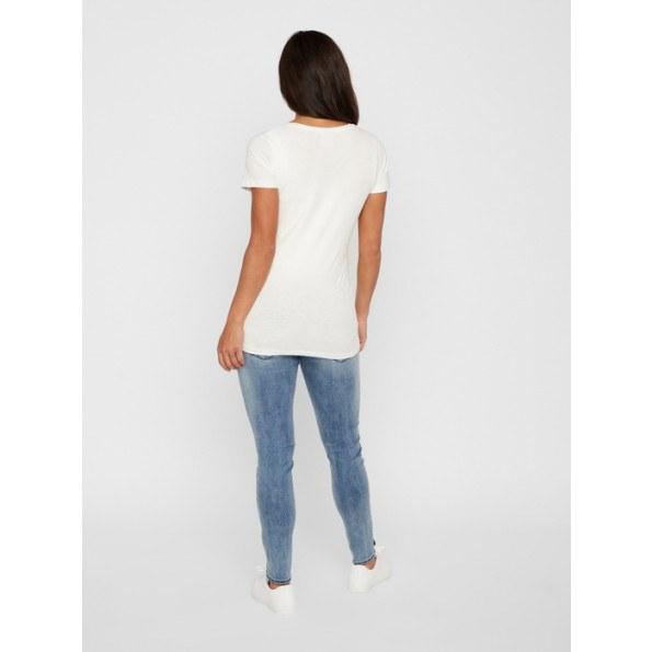 Mamalicious slim jeans - blå denim