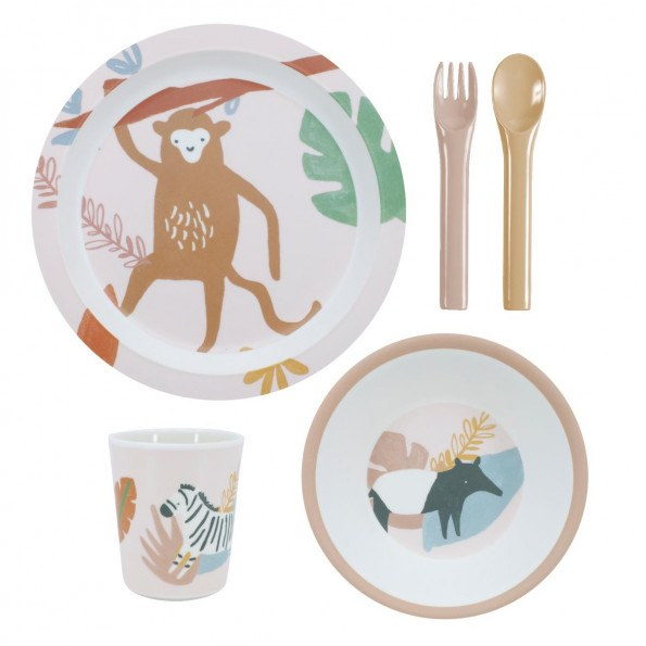 Sebra melamin spisesæt - Wildlife
