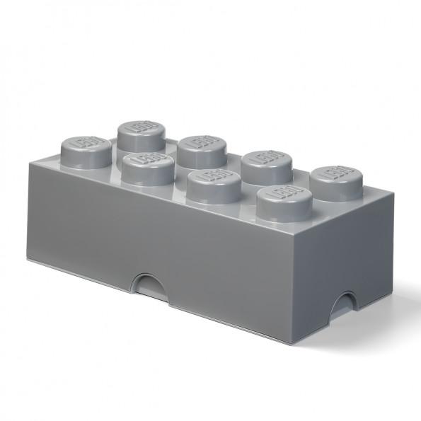 Lego opbevaringskasse 8 - Dark Stone Grey