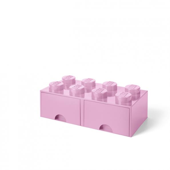 LEGO Brick 8 Opbevaringsskuffe - Lyserød