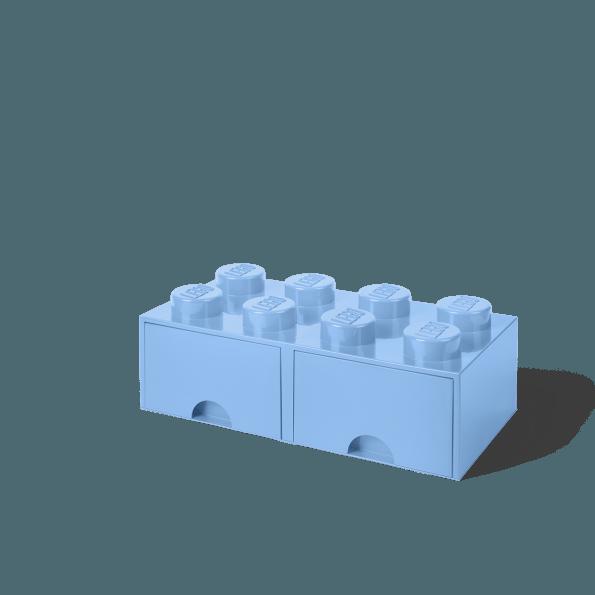 LEGO Brick 8 Opbevaringsskuffe - Light blue