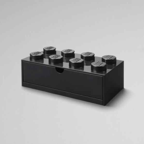 LEGO skrivebordsopbevaringsskuffe 8 - Sort