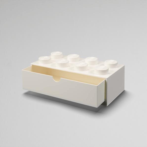 LEGO skrivebordsopbevaringsskuffe 8 - Hvid