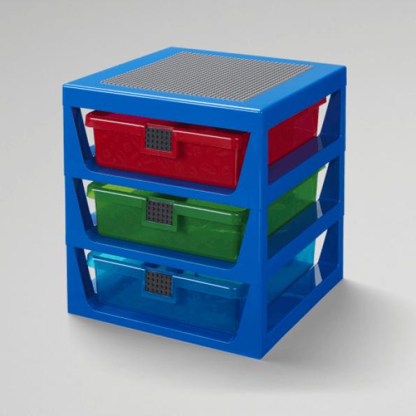 LEGO Opbevaring med 3 skuffer - blå