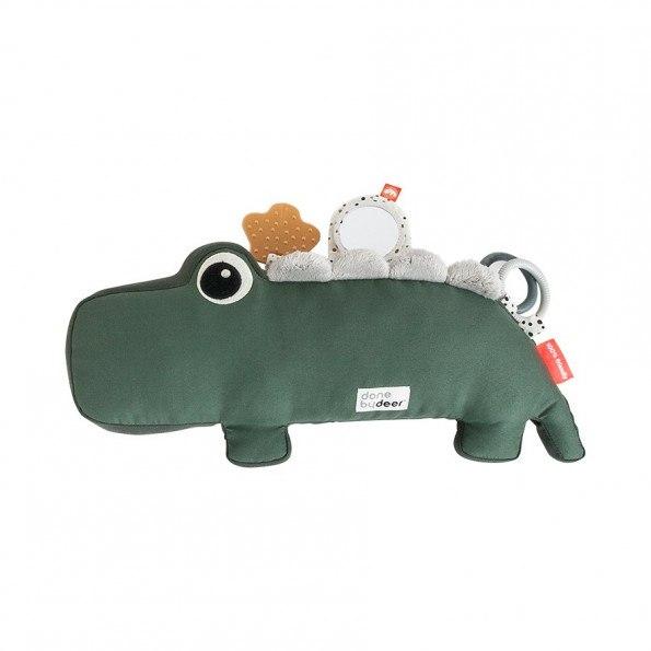 Done By Deer nakketræning aktivitetsbamse - Croco grøn
