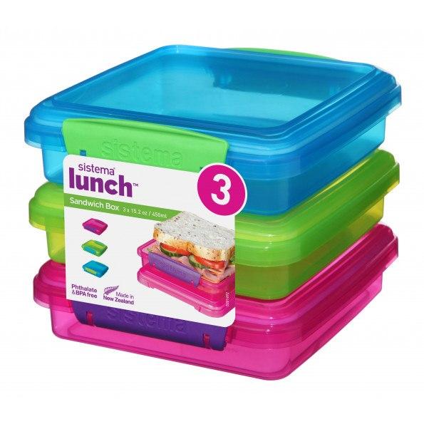 Sistema Sandwich Box 3 stk. 450 ml