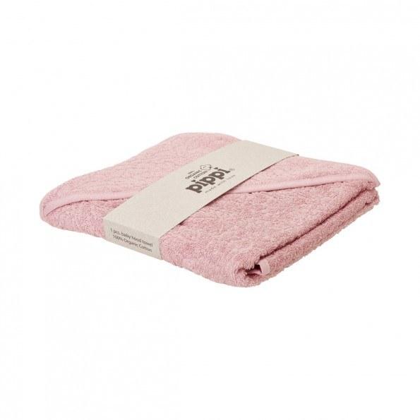 Pippi Håndklæde med hætte - Pale Mauve