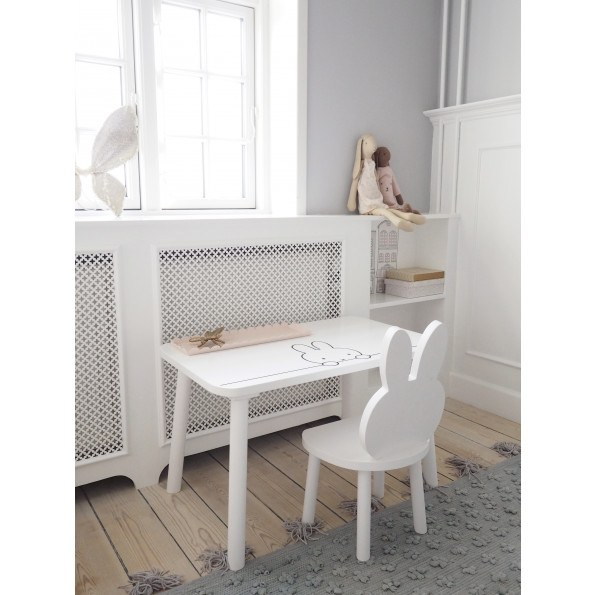 Kids of Scandinavia Miffy My Table bord - hvid