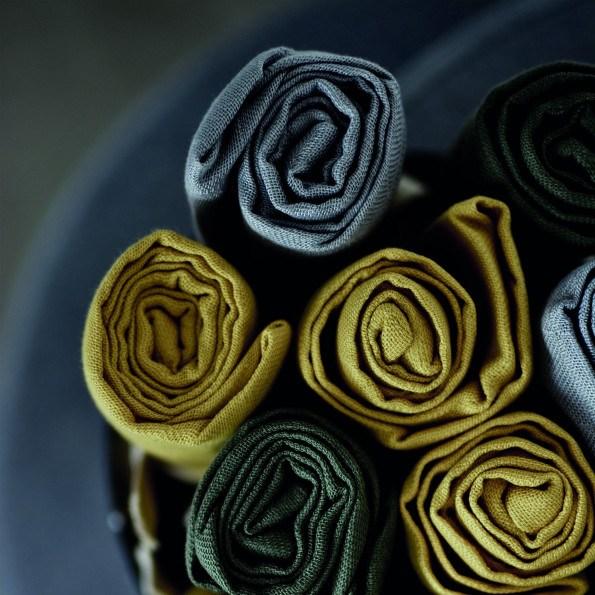 Filibabba muslin stofble - golden mustard