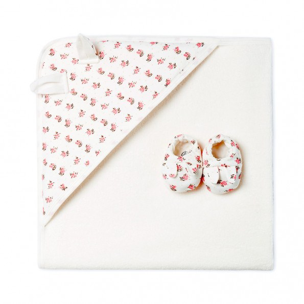 Petit Bateau badehåndklæde & futter - lyserød