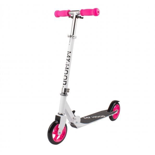My Hood løbehjul Ø145 mm - hvid/pink