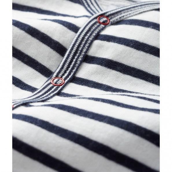 Petit Bateau heldragt - sort/hvid strib