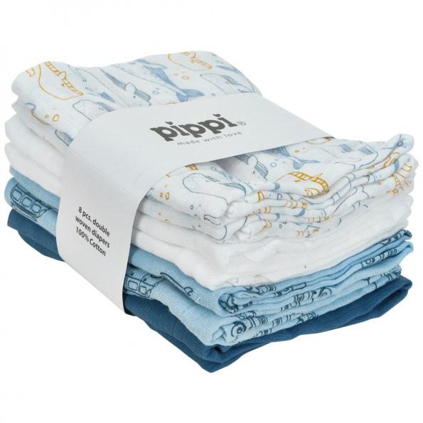 Pippi Stofbleer 8 pak – blå
