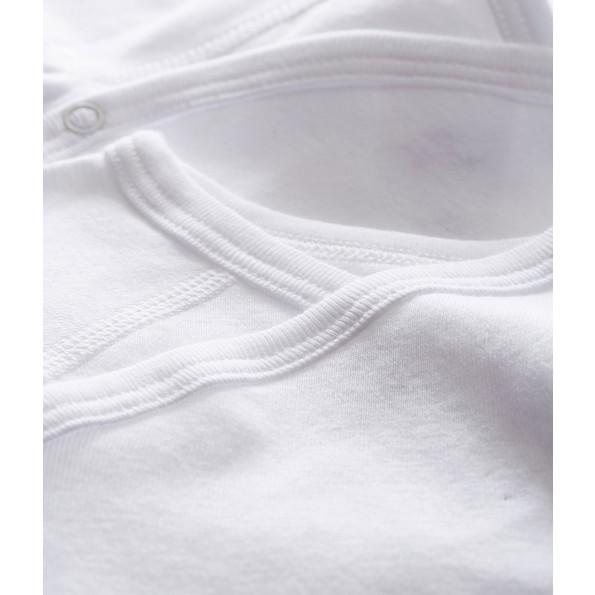 Petit Bateau 2-pak bodyer med lange ærmer - hvid