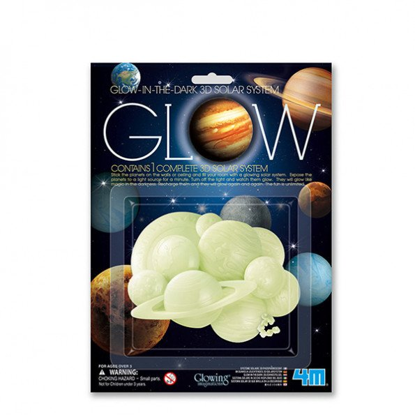 4M Glowing Imaginations selvlysende solsystem
