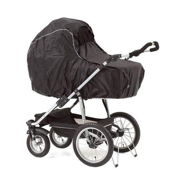 Baby Dan regnslag m. net til barnevogn - sort