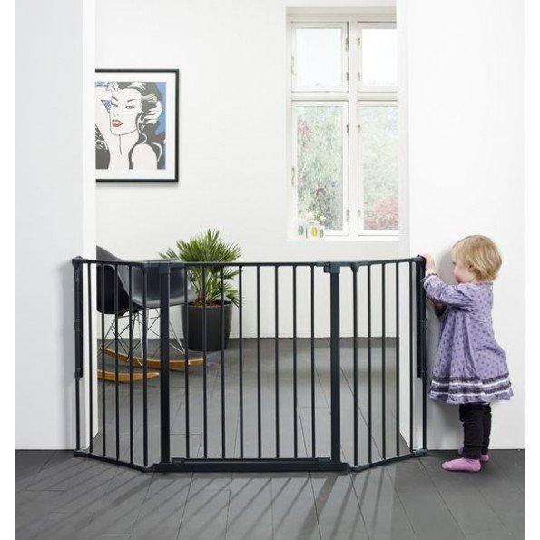 BabyDan FLEX M sikkerhedsgitter - sort