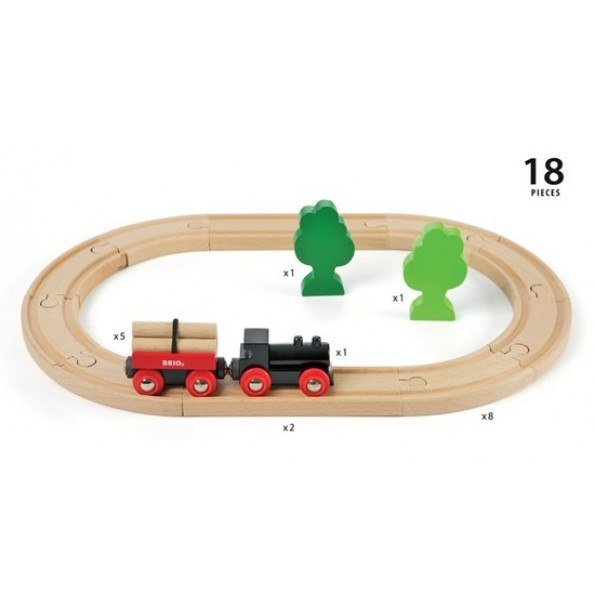 BRIO Togbane med lille skov - 33042