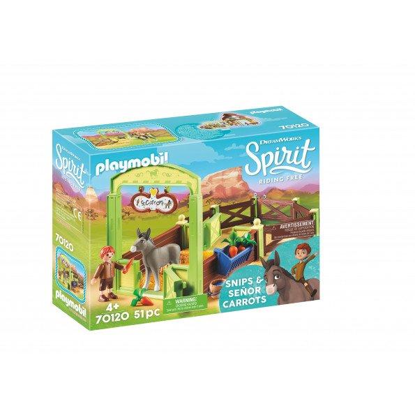 Playmobil Spirit Snips og Señor Carrots med hestestald - 70120