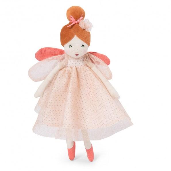 Moulin Roty fransk dukke 30 cm, lille lyserød fe