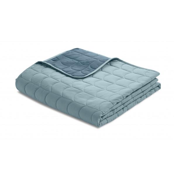 Flexa quilt sengetæppe 200x230 cm. - frosty blue