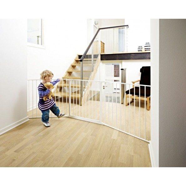 BabyDan FLEX L sikkerhedsgitter - hvid