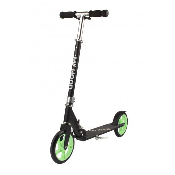 My Hood 200 løbehjul - sort/grøn