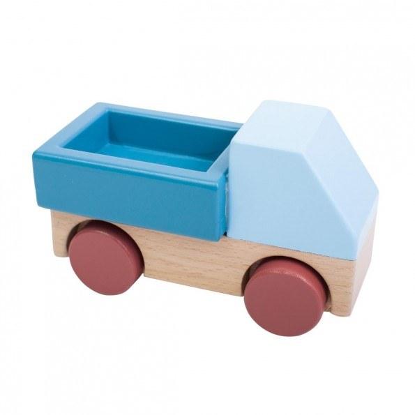 Sebra Bil i træ - Stone Blue