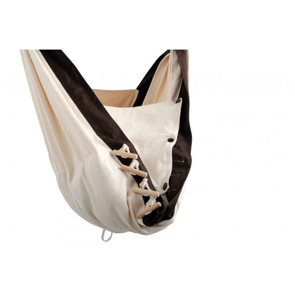 Amazonas Kangoo slyngevugge - Off white/Brun