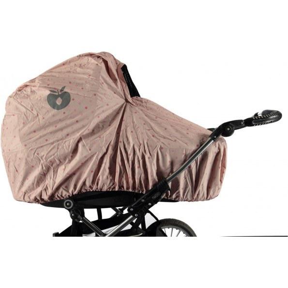 Småfolk regnslag til barnevogn - Silver Pink