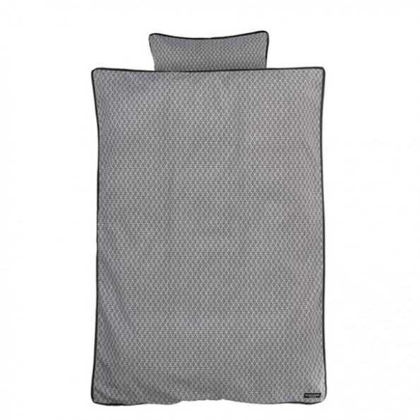 Manostiles Perfect Black - sort/hvid babysengetøj 70x100 cm