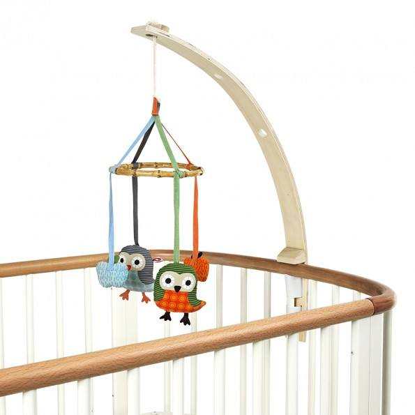 Træfarvet Babyamuse Uro-holder - Franck Fischer