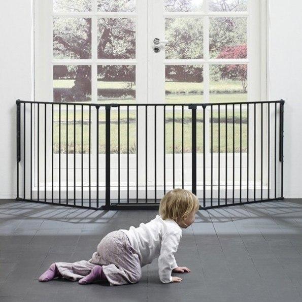 Baby Dan FLEX L Sikkerhedsgitter sort